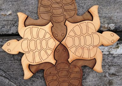 Wooden Tiling Turtles—Starter Pack