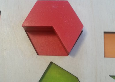 hexagon puzzle close up